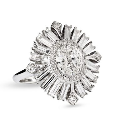 WHITE GOLD WHITE DIAMOND RING