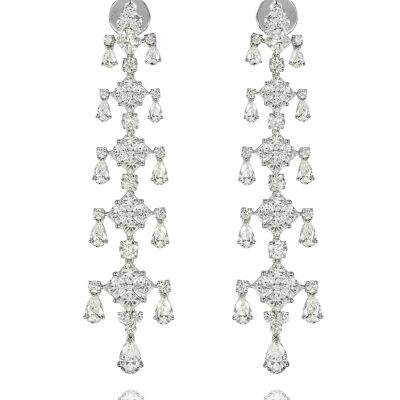 WHITE GOLD WHITE DIAMONDS EARRINGS