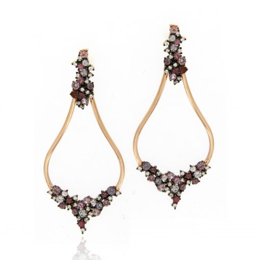 18k pink gold earrings