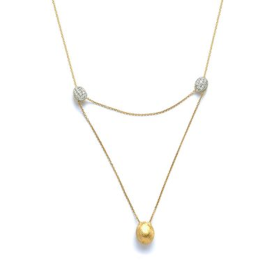 One of Mozafarians current featured designers, Nanis 18ct Yellow gold Necklace with 0.45 ct White Diamonds. Weight: 4.5 g