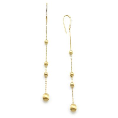 One of Mozafarians current featured designers, Nanis 18ct Yellow gold Earrings with 0.1 ct White Diamonds. Weight: 3.2 g