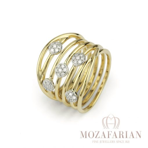 18ct Yellow and White Gold Ring