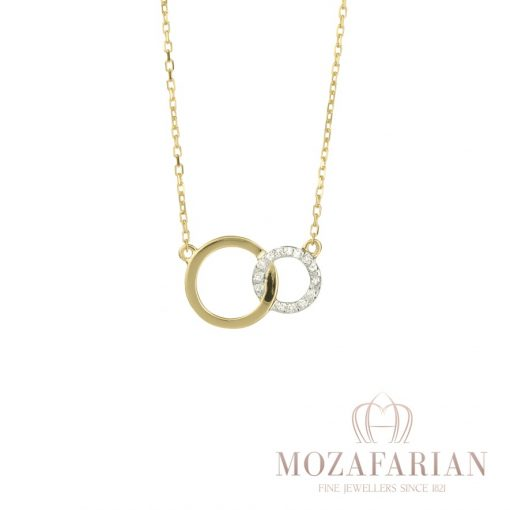 One of Mozafarians current featured designers, Facet 18ct Yellow Gold Pendant with 0.03 ct White Diamonds. Weight: 1.5 g