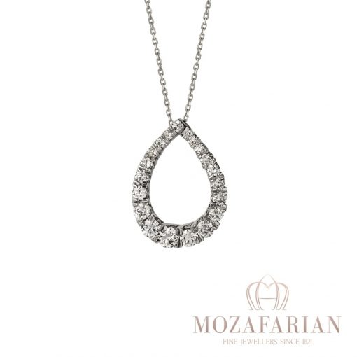 18ct White Gold Pendant with 1.00 ct White Diamonds. Weight: 3.6 g