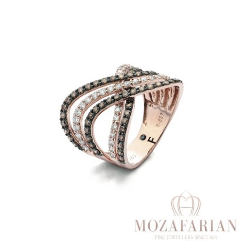 18ct Rose Gold Ring with 2.00 ct Diamonds. Weight: 6.5 g (Ring size can be adjusted with no charge, we will email you
