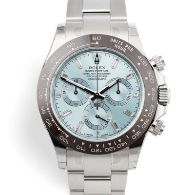 Pre-owned Watch Rolex platinum Daytona New Box papers and stickers